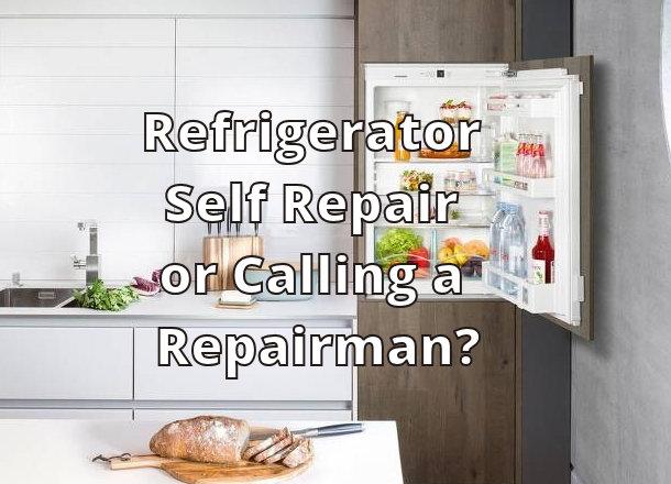 Refrigerator Self Repair or Calling a Repairman